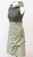 Kapuzenkleid Jadegrün