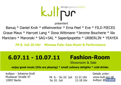 Fashion week Juli 2011 flyer
