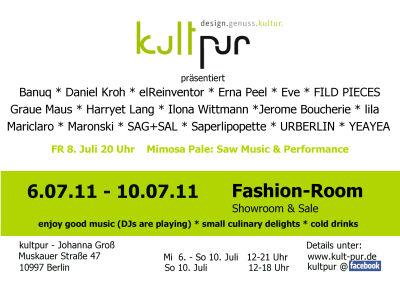 Fashion week Juli 2011 flyer