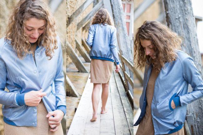 Gradierwerk blaue Jacke