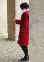 Roter Mantel Kirschfutter