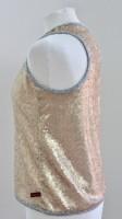 Paillettenoberteil Goldsonne seitlich