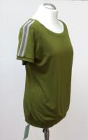 Shirt kurzarm, apfelgrün, Glitzerstreifen