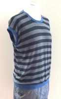 Shirt mit angeschnittenem Arm, Ringel, Glitzer