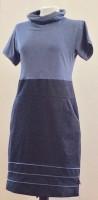 Kleid mit Kragen, kurzarm, Biesen